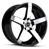 Ruff Racing R956 22X9 Gloss Black with Machined Face