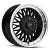 Ruff Racing R957 17X7.5 Gloss Black with Machined Lip
