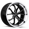 Ruff Racing R958 18X9 Satin Black with Machined Lip & Milled Spokes