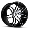 Ruff Racing R960 22X9 Gloss Black with Machined Face