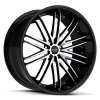 Ruff Racing R980 22X9 Gloss Black with Machined Face