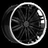 Ruff Racing R980 22X10 Satin and Black with Chrome Lip
