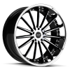 Ruff Racing R981 20X8.5 Gloss Black with Machine Face & Chrome Lip