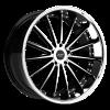 Ruff Racing R981 22X10 Gloss Black with Machine Face & Chrome Lip