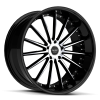 Ruff Racing R981 20X10 Gloss Black with Machined Face