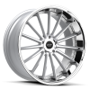 Ruff Racing R981 20X8.5 Hyper Silver with Machined Face & Chrome Lip