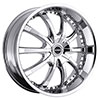 Strada Sole Chrome 24 X 9.5 Inch Wheels