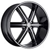 Strada Spago Black Machined Face 26 X 10 Inch Wheels