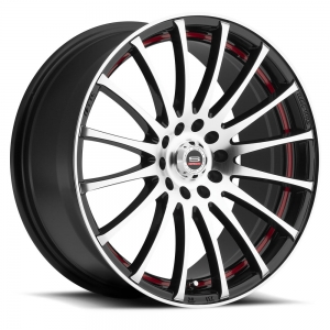 SPEC-1 SP-12 Gloss Black Machined Red