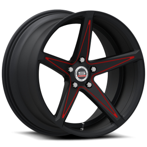 Spec-1  SPM-78R Gloss Black Red Accent
