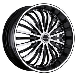 Strada Spina Black Machined Face 24 X 9.5 Inch Wheels