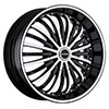 Strada Spina Black Machined Face 22 X 8 Inch Wheels