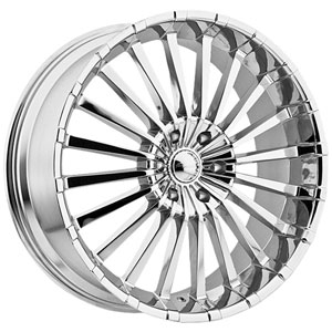 Panther Spline 911 Chrome Wheel Packages