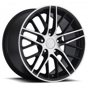 Sport Concepts 862 18X9.5 Gloss Black with Machine Face and Lip