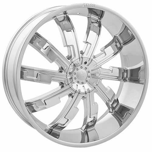 Starr Wheels 517 Cypher Chrome 26 X 9.5 Inch Wheels