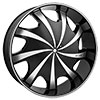 Starr Wheels 569 Bear Black 24 X 9.5 Inch Wheels