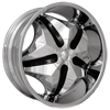 Starr Wheels 618 Chubby Chrome with Black Inserts 28 X 10 Inch Wheels