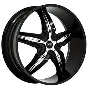 Status Dystany 822 Black with Chrome Inserts Wheel Packages