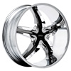 Status Dystany 822 Chrome with Black Inserts 26 X 10 Inch Wheel