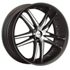 Status Fang 820 Black with Chrome Inserts 17 X 7.5 Inch Wheel
