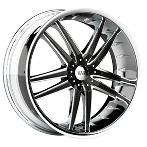 Status Fang 820 Chrome with Black Inserts Wheel Packages