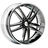 Status Fang 820 Chrome with Black Inserts 17 X 7.5 Inch Wheel
