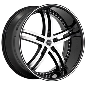 Status Knight 5 816 Black Machined Wheel Packages