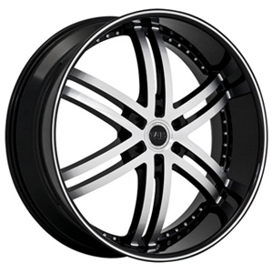 Status Knight 6 817 Black Machined Wheel Packages