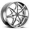 Status S828 Crown Chrome with Black Inserts 26 X 9 Inch Wheel