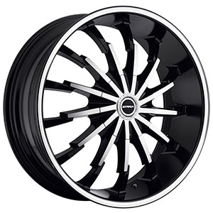 Strada Stiletto Black with Machined Face Wheel Packages