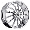 Strada Stiletto Chrome 20 X 8.5 Inch Wheels
