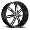 Strada Diablo 24X10 Gloss Black with Machined Face