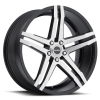 Strada Domani 18X8 Gloss Black with Machined Face