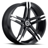 Strada Domani 18X8 Gloss Black with Machined Tips