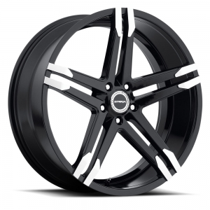 Strada Domani 24X9 Gloss Black with Machined Tips