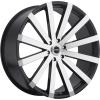 Strada Raggio 22X9 Gloss Black with Machined Face