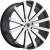 Strada Raggio 24X9.5 Gloss Black with Machined Face