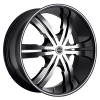 Strada Vetro 20X9.5 Gloss Black with Machined Face