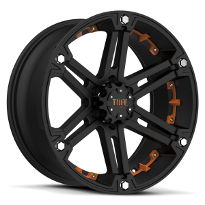Tuff T-01 Flat Black with Orange Inserts