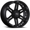 Tuff T-01 17X8 Full Flat Black with Chrome Inserts