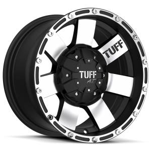 Tuff T-02 Flat Black with Machined Face & Flange