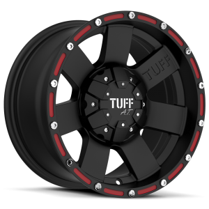 Tuff T-02 Flat Black with Red Inserts