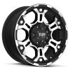 Tuff T-03 17X8 Flat Black with Machined Face & Flange