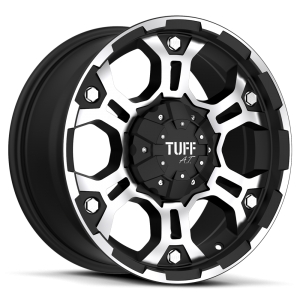 Tuff T-03 Flat Black with Machined Face & Flange