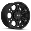 Tuff T-03 17X8 Full Flat Black