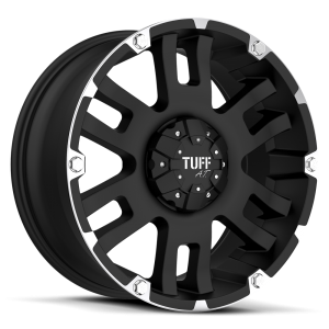 Tuff T-04 Flat Black with Machined Flange
