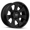 Tuff T-06 16X8 Full Satin Black