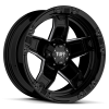 Tuff T-10 22X9.5 Gloss Black with Milling