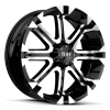 Tuff T-13 22X9.5 Flat Black with Machined Face & Flange