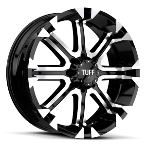 Tuff T-13 Flat Black with Machined Face & Flange